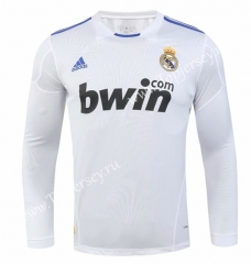 Retro Version 2010-2011 Real Madrid Home White LS Thailand Soccer Jersey AAA-SL