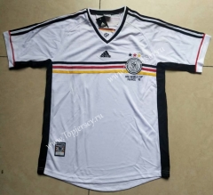 1998 Retro Version Germany White Thailand Soccer Jersey AAA-912