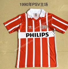 Retro Version 1990 Eindhoven Home Red Thailand Soccer Jersey AAA-AY