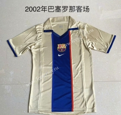 Retro Version 2002 Barcelona Yellow Thailand Soccer Jersey AAA-AY