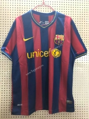 Retro Version 2009-2010 Barcelona Home Red&Blue Thailand Soccer Jersey AAA-811