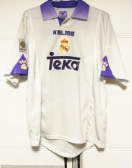 Retro Version 97-98 UEFA Champions League Real Madrid Home White Thailand Soccer Jersey AAA-503