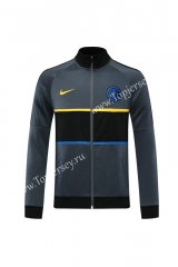 Player Version 2020-2021 Inter Milan Gray Thailand Soccer Jacket -LH