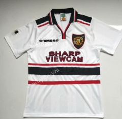 Retro Version 1998 Manchester United White Thailand Soccer Jersey AAA-912