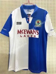 Retro Version 1994-1995 Blackburn Rovers Home Blue&White Thailand Soccer Jersey AAA-811