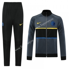 Player Version 2020-2021 Inter Milan Gray Thailand Soccer Jacket Uniform-LH