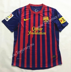 Retro Version 2011-2012 Barcelona Home Red&Blue Thailand Soccer Jersey AAA-SL