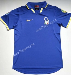 Retro Version 1996-1998 Italy Home Blue Thailand Soccer Jersey AAA-912