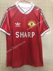 Retro Version 1990-1992 Manchester United Home Red Thailand Soccer Jersey AAA-811