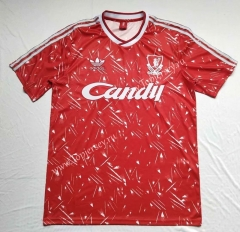 Retro Version 1991 Liverpool Home Red Thailand Soccer Jersey AAA-912