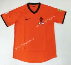 Retro Version 2000 Netherlands Home Orange Thailand Soccer Jersey AAA-912