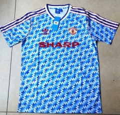 Retro Version 1992 Manchester United Blue Thailand Soccer Jersey AAA-912