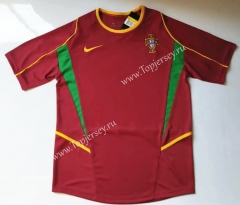 Retro Version 2002 Portugal Home Red Thailand Soccer Jersey AAA-912