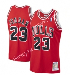 Mitchell&Ness Chicago Bulls Red #23 NBA Jersey