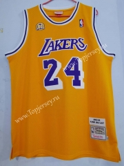 60 Honor Edition Los Angeles Lakers Yellow #24 NBA Jersey