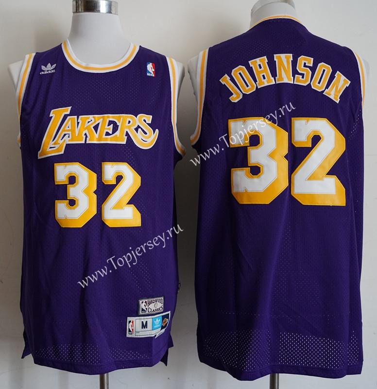 Los Angeles Lakers Purple #32 Print NBA Jersey,Los Angeles Lakers