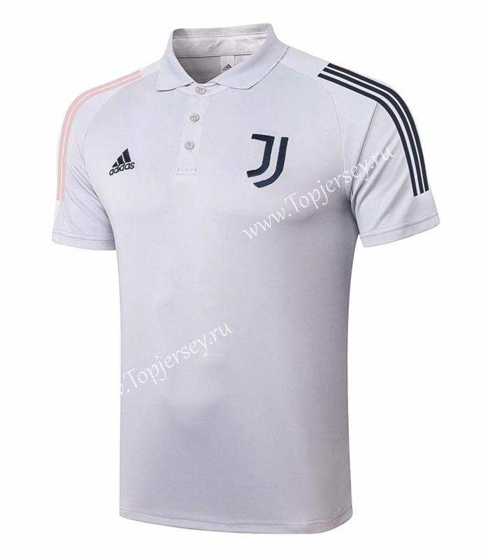 2020-2021 Juventus Light Gray Thailand Polo Shirt-815,Juventus