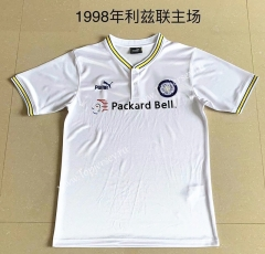 Retro Version 1998 Leeds United Home White Thailand Soccer Jersey AAA-709