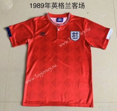 Retro Version 1989 England Away Red Thailand Soccer Jersey AAA-709