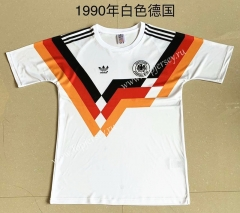 1990 Retro Version Germany Home White Thailand Soccer Jersey AAA-709