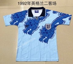 Retro Version 1990 England 2nd Away Blue Thailand Soccer Jersey AAA-709