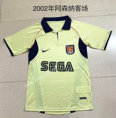 Retro Version 2002 Arsenal Away Yellow Thailand Soccer Jersey AAA-709