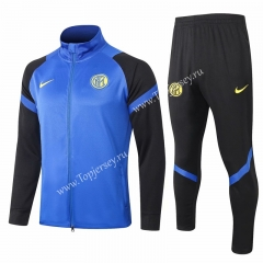 2020-2021 Inter Milan Camouflage Blue Thailand Soccer Jacket Uniform-815