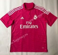 Retro Version 2014-2015 Real Madrid Away Pink Thailand Soccer Jersey AAA-SL