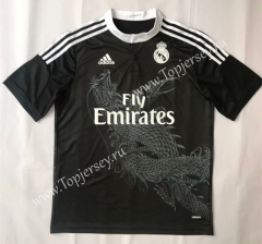 Retro Version 2014-2015 Real Madrid 2nd Away Black Thailand Soccer Jersey AAA-SL