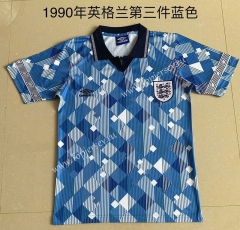 Retro Version 1990 England 3rd Away Blue Thailand Soccer Jersey AAA-709