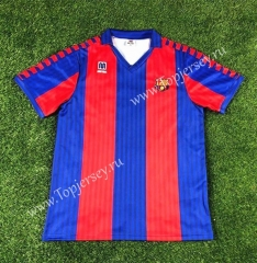 Retro Version 1991-1992 Barcelona Home Red&Blue Thailand Soccer Jersey AAA-503
