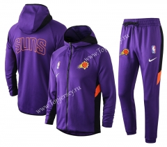 2020-2021 NBA Phoenix Suns Purple Jacket Uniform With Hat-815