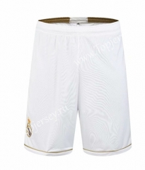 Retro Version Real Madrid White Thailand Soccer Shorts-SL
