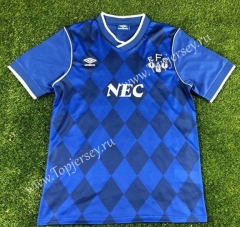 Retro Version 1886-1887 Everton Home Blue Thailand Soccer Jersey AAA-503