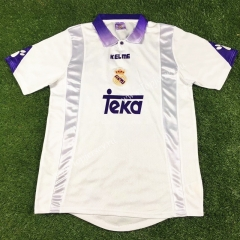 Retro Version 1997-1998 Real Madrid Home White Thailand Soccer Jersey AAA-503