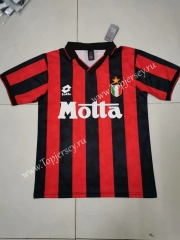 Retro Version 1993-1994 AC Milan Home Red&Black Thailand Soccer Jersey AAA