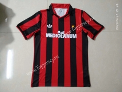 Retro Version 1989-1990 AC Milan Home Red&Black Thailand Soccer Jersey AAA