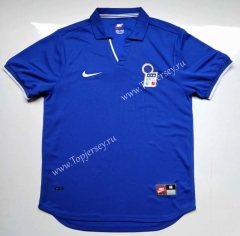 Retro Version 1998 Italy Home Blue Thailand Soccer Jersey AAA-912