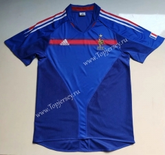 Retro Version 2004 France Blue Thailand Soccer Jersey AAA-912