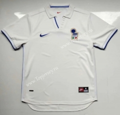 Retro Version 1998 Italy Away White Thailand Soccer Jersey AAA-912