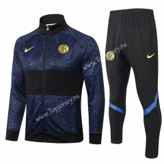 2020-2021 Inter Milan Royal Blue Thailand Soccer Jacket Uniform-815