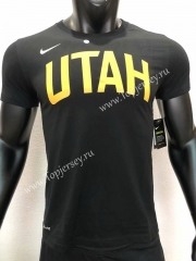 Utah Jazz Black NBA Cotton T-shirt