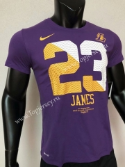 Los Angeles Lakers Purple #23 NBA Cotton T-shirt