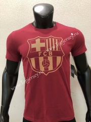 Barcelona Red Cotton T-shirt