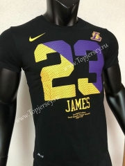 Los Angeles Lakers Black #23 NBA Cotton T-shirt