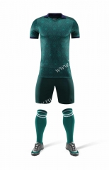 Without Logo 2020-2021 Italy 2nd Away Green Soccer Uniform