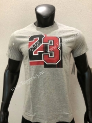 Chicago Bulls Gray #23 NBA Cotton T-shirt
