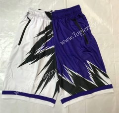 ZK702 White&purple NBA Shorts