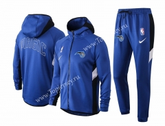 2020-2021 NBA Orlando Magic Camouflage Blue Jacket Uniform With Hat-815