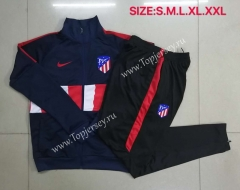 2020-2021 Atletico Madrid Half Red&White Thailand Soccer Jacket Uniform-815